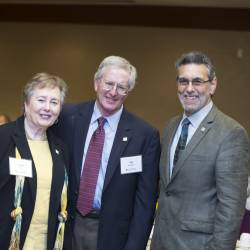 Mel Geber and Janet Vest, new members at fellow level, with Marc Linit
