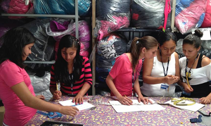 A few of the trainees in The Garrobo Project's classroom.