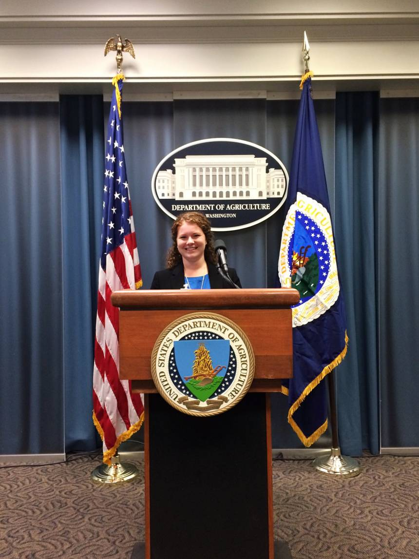 Higgins at a recent event at the United States Department of Agriculture with NAFB.