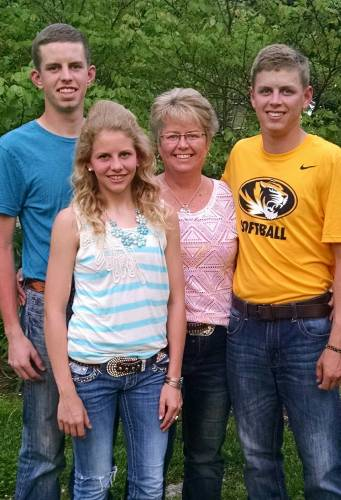 The Francis family has a passion for agriculture. Pictured, left to right: Britton, Aly, Barb, Brant. Photo courtesy of the Francis family.