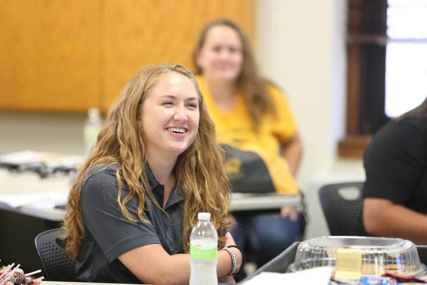 On the final day of the Mizzou Teach Ag Academy, students prepared a lesson and taught their peers. They then received feedback from students and faculty.