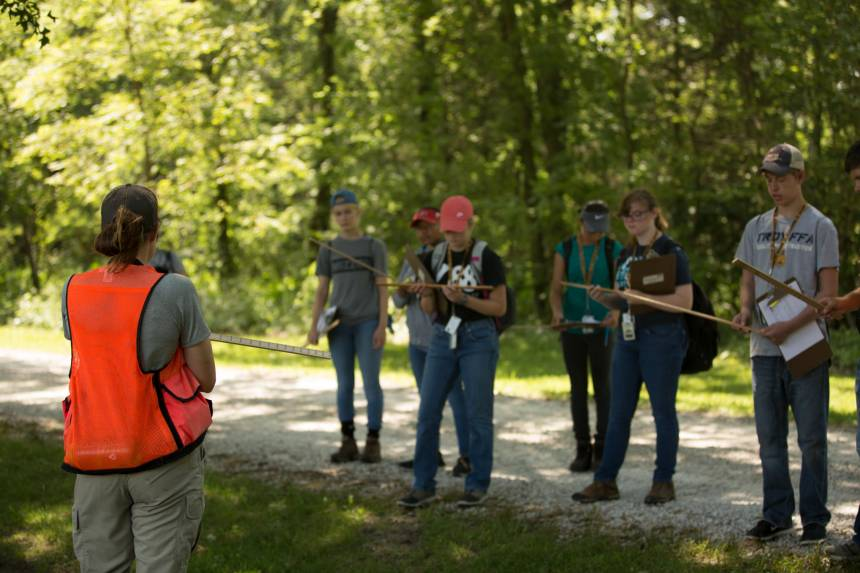 Natural Resources Careers Academy attendees learned the fundamentals of forest and prairie conservation.