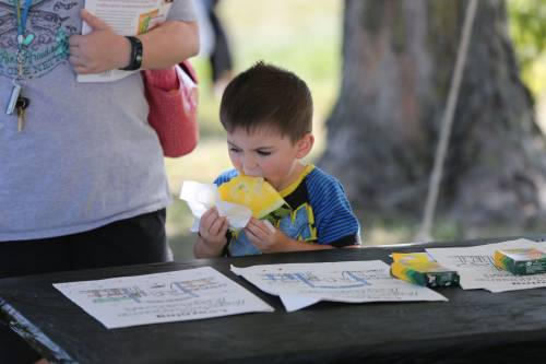 There were several activities for kids during the 13th annual Tomato Festival at the Bradford Research Center.