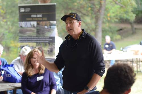 Christopher Daubert, Vice Chancellor and Dean of the University of Missouri College of Agriculture, Food and Natural Resources, was introduced during lunch of the Wurdack Research Center field day.