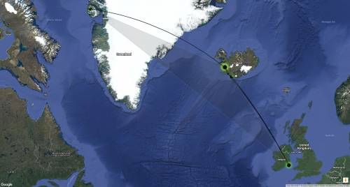 The average route between breeding areas in Greenland and staging areas in Iceland, and staging areas in Iceland and wintering areas in Great Britain and Ireland, requires 17 hours of nonstop flight. In these crazy storms, the team has seen 30 to 35 hour flights from white-fronted geese. The birds are averaging 10 to 15 miles an hour for 30 to 35 hours. Photo courtesy Mitch Weegman.