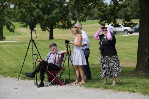 Individuals traveled from across the United States to enjoy the eclipse at the South Farm Research Center. Photo by Logan Jackson.