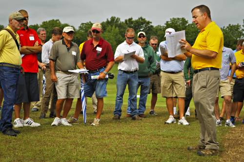 The turfgrass group works in the field conducting applied research, meaning they measure what works and what doesn't. They test products that may control disease while reducing pesticide and fertilizer inputs. They also evaluate new turfgrass cultivars and species to observe what might work better in Missouri's harsh environment, and keep close watch on other emerging trends in the turfgrass world that may be implemented here.