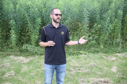 Harley Naumann, an assistant professor in the Division of Plant Sciences, has a research and teaching appointment in forage physiology. His research focuses on understanding the critical physiological components of warm- and cool-season forages that lead to improved forage-livestock production systems. Naumann has been working with a unique forage since he arrived at Mizzou in 2014 – sunn hemp.