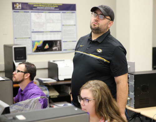 Jon Bongard is the graduate student lending his expertise to the course. Market said Bongard, an atmospheric science master's student in the School of Natural Resources, has a gift when it comes to forecasting.