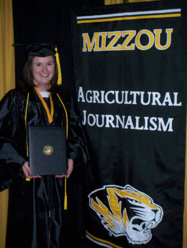 Tew earned her bachelor's degree in agricultural journalism in 2008. Photo courtesy Cindy Tew.