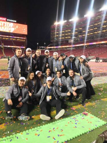 Tony at Levi's Stadium (first row, far left)