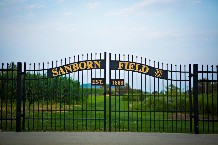 Sanborn Field gate
