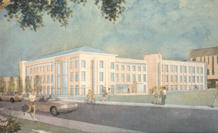 Artist's rendering of the Anheuser-Busch Natural Resources Building