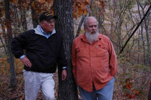 Doug Allen, right, and Gene Garrett formed a lifelong friendship after the two started discussing ways to implement agroforestry practices on Allen's land.