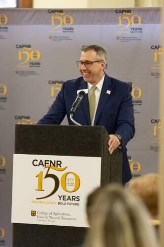 Dean Daubert speaking at Founding Day