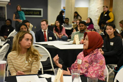 Deaton Scholars visit during their first meeting at the 2020 Opening Ceremony. Photo by Yanu Prasetyo, courtesy of DSP.