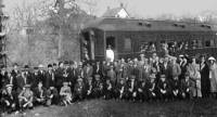 Vintage photo of students in short course