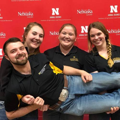 Filley, Shanks and Tarpey are all animal sciences majors. Blank is an agricultural education and leadership major and is minoring in animal sciences.