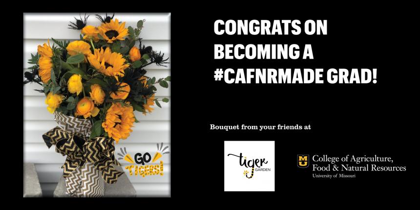 Congrats on becoming a #CAFNRmade grad!