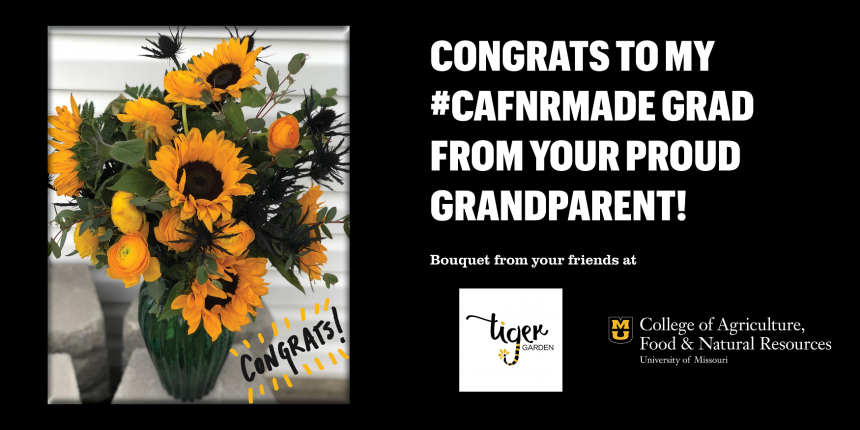 Congrats to my #CAFNRmade grad from your proud grandparent!