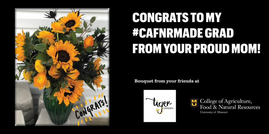 Congrats to my #CAFNRmade grad from your proud mom!