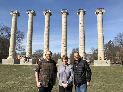 From left to right: David Korasick, Lesa Beamer and John Tanner.