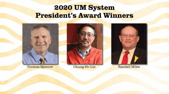 CAFNR Faculty Earn 2020 President'sAwards (click to read)