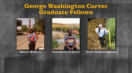 George Washington Carver Graduate Fellows (click to read)