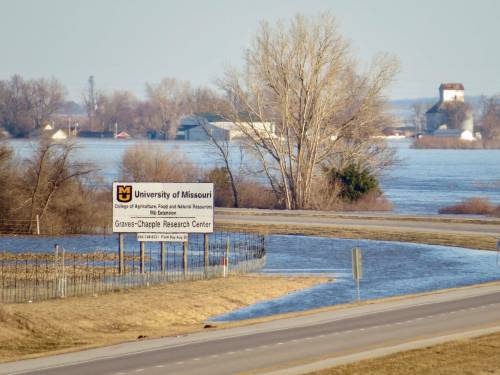 MU Graves-Chapple Research Center, near Rock Port in Atchison County, under water