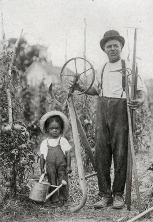 Henry Kirklin with Lorenzo Renfro, his grandson