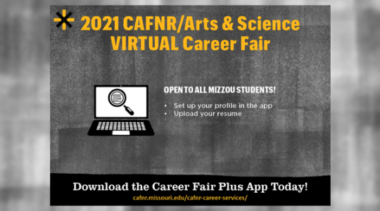 Spring 2021 CAFNR/Arts and Science Virtual CareerFair (click to read)