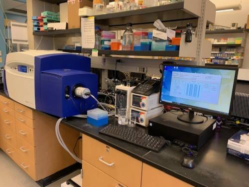 The new spectrometer will help evaluate macromolecular stability, monitor the effects of various perturbants (pH, temperature, etc.) and can be used to study ligand-binding events. Photo courtesy of Kamal Singh.