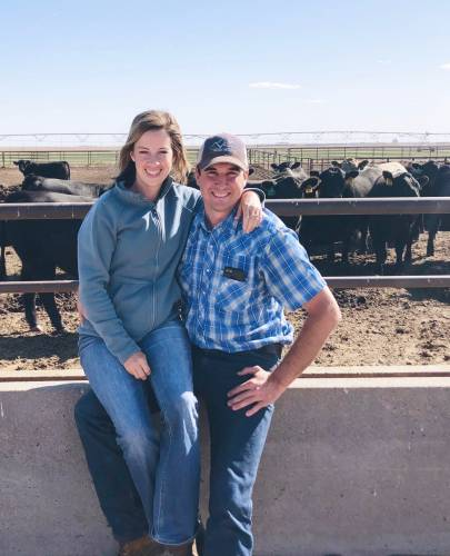 Elaine and Brendan met in Kansas, as Elaine was working a full-time job at a large purebred Angus cattle operation right after graduating from MU. Elaine interned at the same cattle operation as a student in the MU College of Agriculture, Food and Natural Resources (CAFNR) before accepting the full-time gig. Photo courtesy of Elaine Martin.