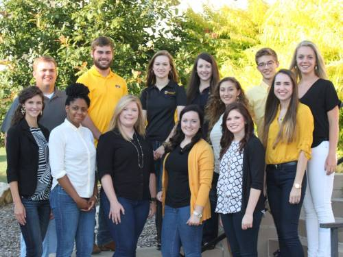 Turner (bottom row, far right) served as a CAFNR Peer Career Coach during her time as a Tiger. She was involved in multiple other organizations as well. Photo courtesy of Samantha Turner.